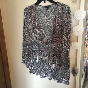 Boho patterned blouse